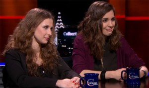 Masha Alyokhina and Nadya Tolokonnikova on the Colbert Report.